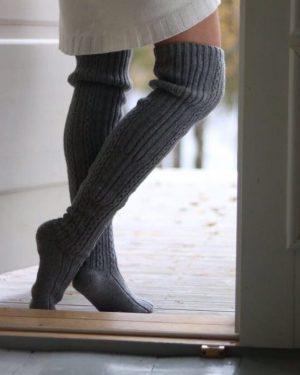 Pura Long Wool Socks Grey