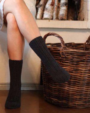 Pura Wool Socks Short Dark grey