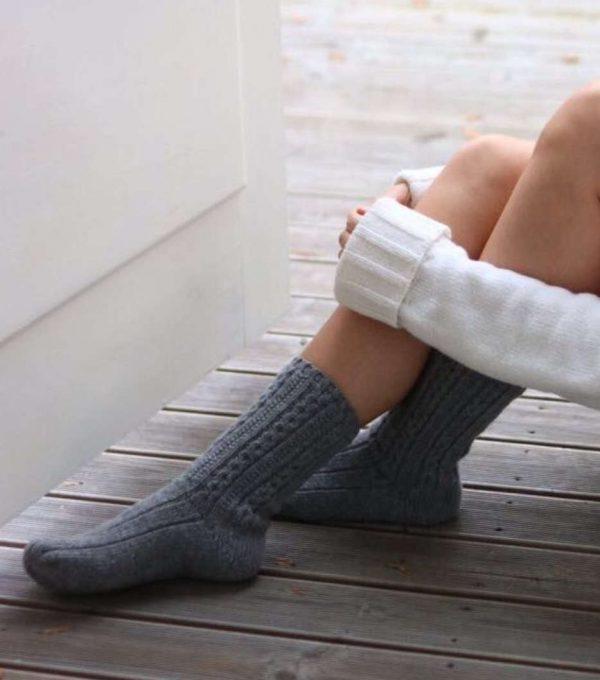 Pura Wool Socks Short Grey