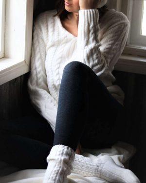 Pura Wool Socks Short Off-white