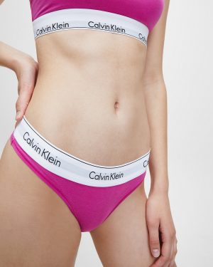 Calvin Klein Modern Cotton Thong Bright Magenta