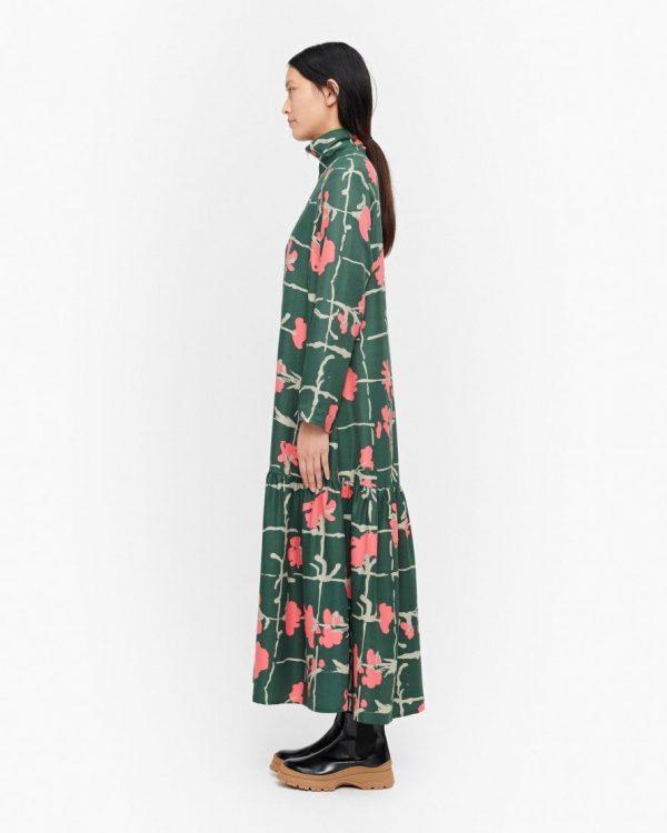 Marimekko Polku Ruutukukka Dress Green