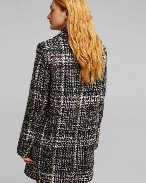 Esprit Buckle Coat Black