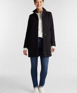 Esprit Recycled Wool Jacket Black