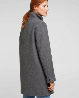 Esprit Recycled Wool Jacket Gunmetal