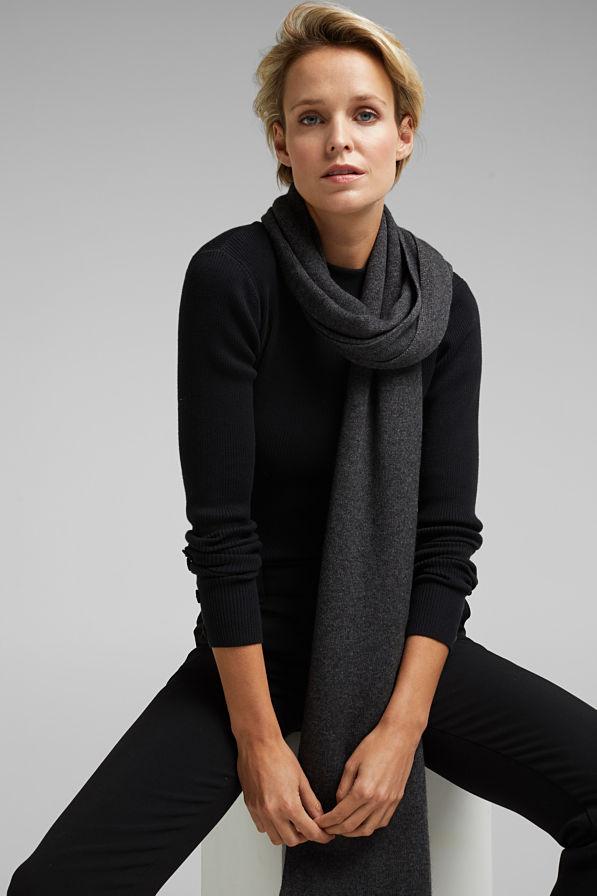 Esprit Cashmere Scarf Dark Grey