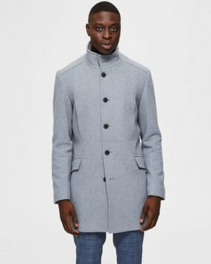 Selected Homme Morrison Wool Coat Grey
