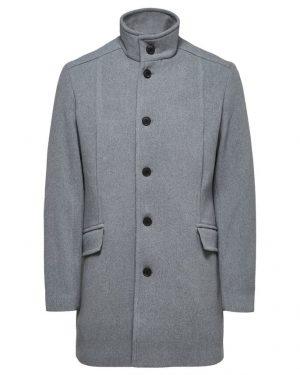 Selected Homme Morrison Wool Coat Grey