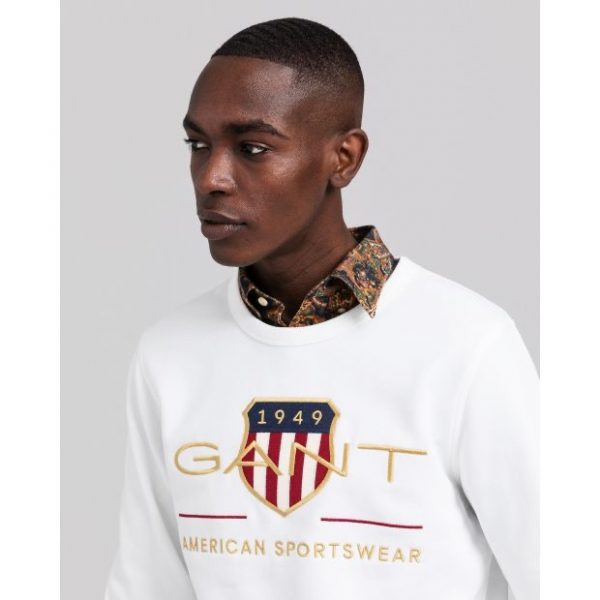 Gant Archive Shield C-Neck Eggshell