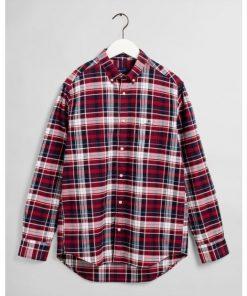 Gant Brushed Oxford Shirt Mahogny Red