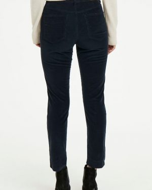 Part Two Silvia Velvet Pants Dark Navy