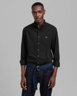 Gant Broadcloth Shirt Black