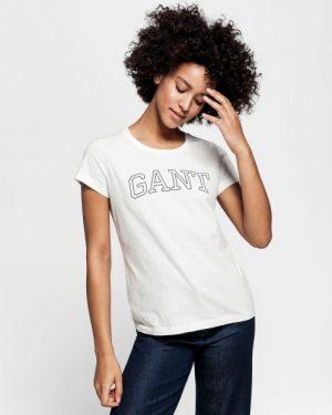 Gant Arch Logo T-shirt Eggshell