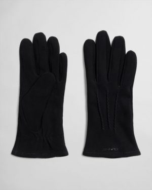 Gant Suede Gloves Black
