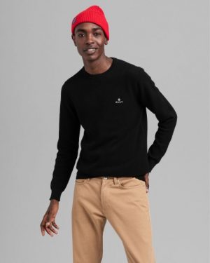 Gant Cotton Pique C-Neck Black