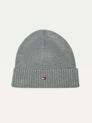 Tommy Hilfiger Pima Cotton Beanie Charcoal Gray