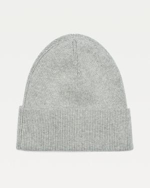 Tommy Hilfiger Cotton Cashmere Beanie Women Mid Grey Heather