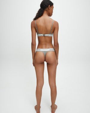 Calvin Klein Modern Cotton Thong Grey Heather