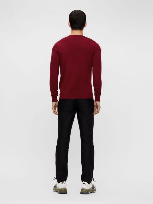 J.LINDEBERG LYLE MERINO CREW NECK SWEATER RED
