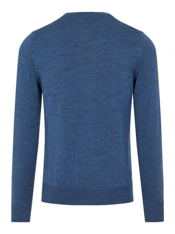 J.LINDEBERG LYLE MERINO CREW NECK SWEATER EGYPTIAN BLUE MELANGE