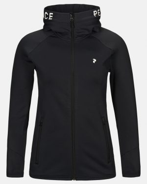 Peak Performance Rider Zip Hood Women Black