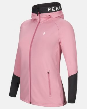 Peak Performance Rider Zip Hood Women Frosty Rose