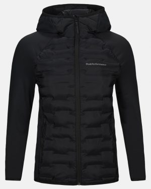 Peak Performance Argon Hybrid Hood Jacket Women Black