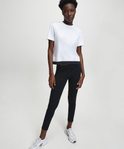 Calvin Klein Straight Logo T-shirt Bright White