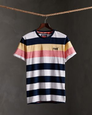 Superdry Orange Label Hoop Stripe T-shirt Eclipse Navy