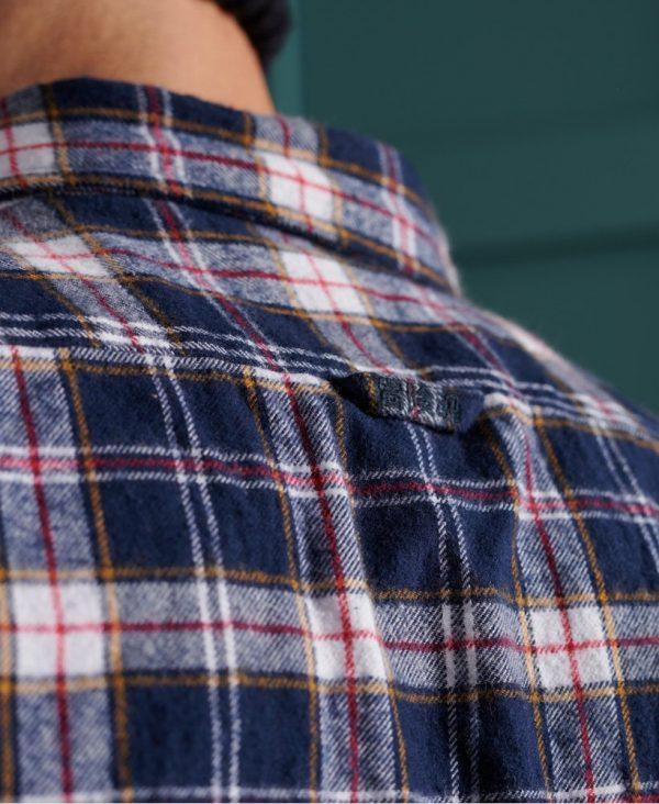 Superdry Heritage Lumberjack Shirt Heritage Navy Check