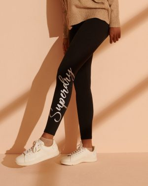 Superdry Scripted Graphic Leggings Black