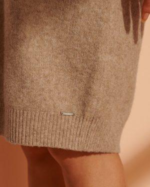 Superdry Isabella Funnel Neck Dress Soft Caramel Marl
