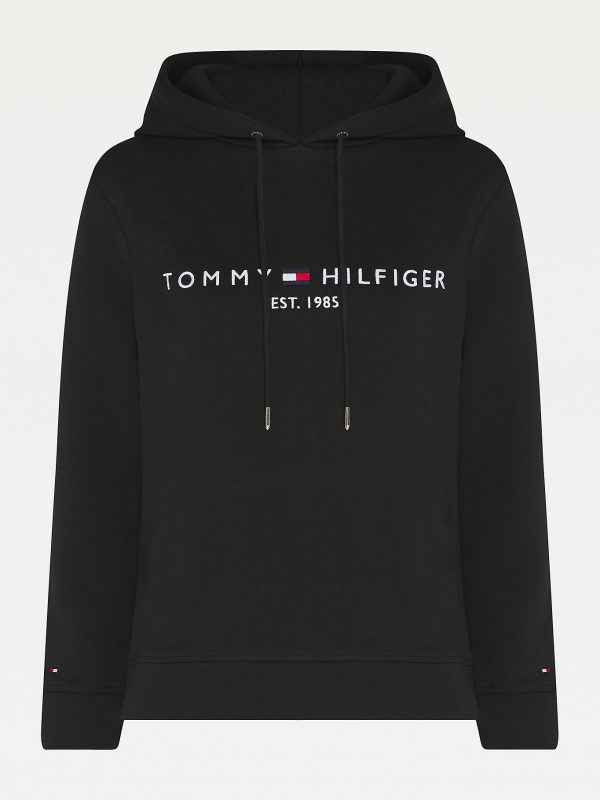 Tommy Hilfiger Essentials Logo Hoody Women Black