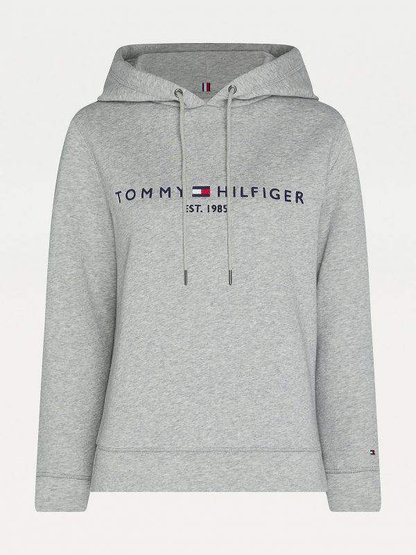 Tommy Hilfiger Essentials Logo Hoody Women Light Grey Heather