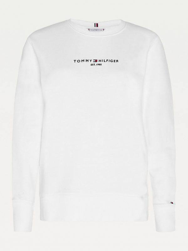 Tommy Hilfiger Essentials Pure Cotton Sweatshirt Women White