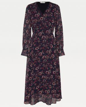 Tommy Hilfiger Amia Floral Midi Dress Wildfloral Print