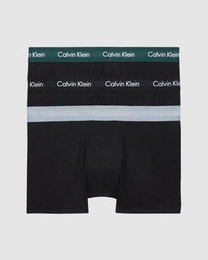 Calvin Klein 3 Pack Low Rise Trunks Black