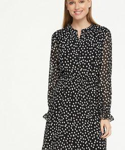 Comma, Dots Dress Black