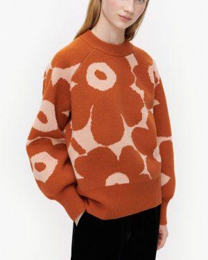 Marimekko Kietoa Unikko Pullover Terracotta