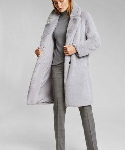 Esprit Teddy Coat Light Grey