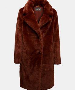 Esprit Teddy Coat Rust Brown