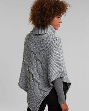Esprit Poncho Light Grey