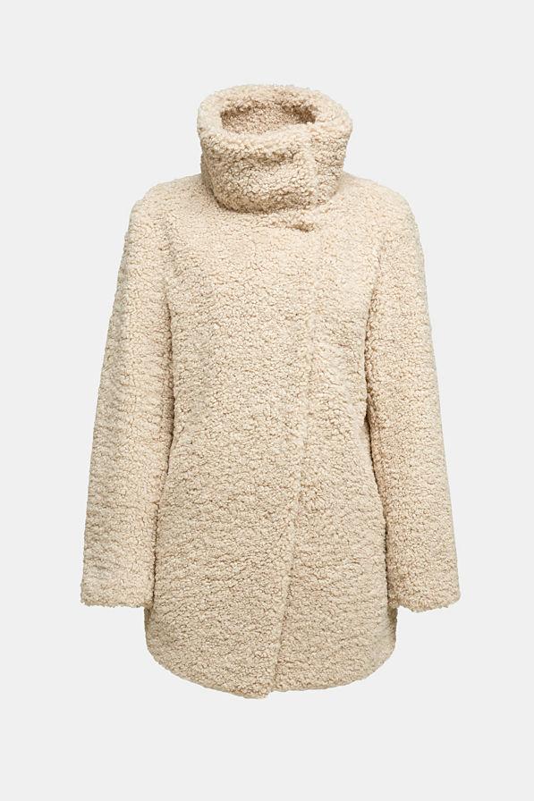 Esprit Teddy Jacket Cream Beige
