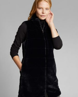 Esprit Long Vest Black