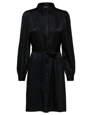 Selected Femme Aurelia Shirt Dress Black