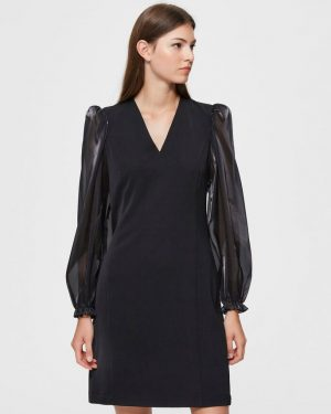 Selected Femme Jomena Dress Black