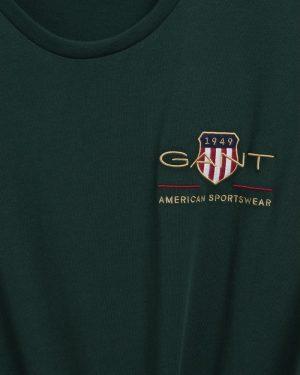 Gant Archive Shield T-shirt Tartan Green