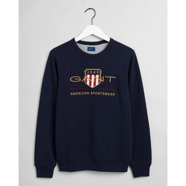 Gant Archive Shield C-Neck Evening Blue
