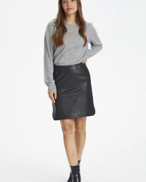 Part Two Ursanas Leather Skirt Black