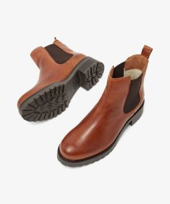 Bianco Biacoral Winter Chelsea Leather Boots Cognac